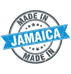 Made in Jamaica blue round vintage stamp vector