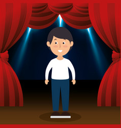 man avatar in theater vector image