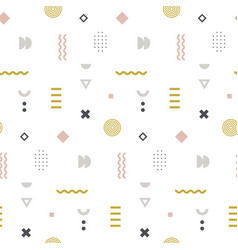 memphis seamless pattern in pastel color vector image