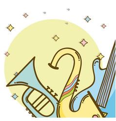 Music instrument cartoons vector