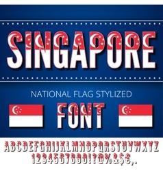 National Flag Font vector