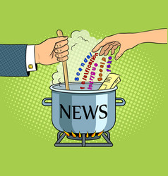 news production metaphor pop art vector image