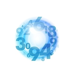 numbers circle blue vector image