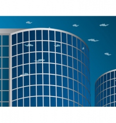 office building on the skyline vector image vector image