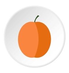 Peach icon flat style vector