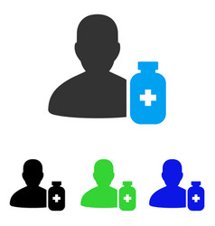 Pharmacist medicine flat icon vector