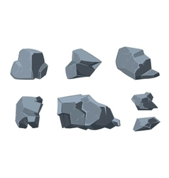 Rock cartoon elements vector