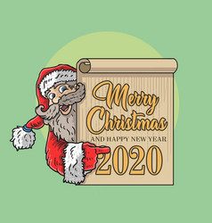 Santa claus frame border vector