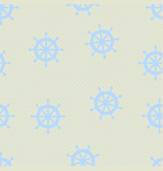 seamless pattern with steering wheels vector image