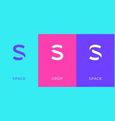 Set letter s minimal logo icon design template vector
