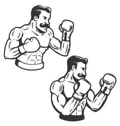 Set of retro style boxers vector