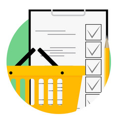 Shopping list icon vector