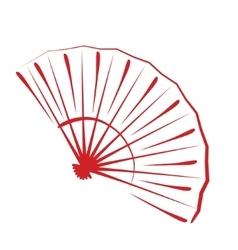 Sketched folding fan vector