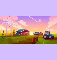 smart ecological farming cartoon concept vector image