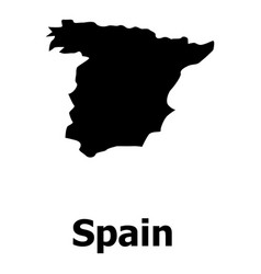 spain map icon simple style vector image