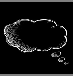 speech bubble chat symbol on black background vector image