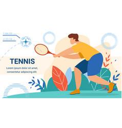 sportsman tennis player holding racket wait ball vector image