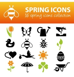 Spring icons vector