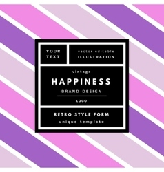 Striped geometric background vector