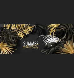 summer adventure bannerbeautiful background with vector image