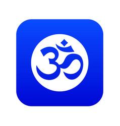 Symbol aum icon digital blue vector