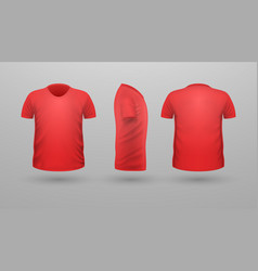 T-shirt template set front side back view vector