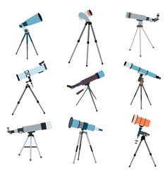Telescope for astronomy Optical instrument for vector image