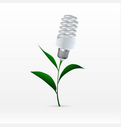 the concept of eco-technology energy saving vector image