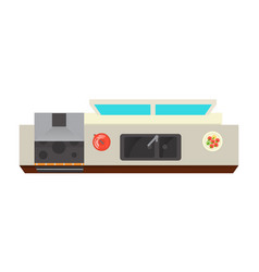 top view kitchen interior element vector image