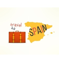 Travel to spain concept Spanish traveler vector image