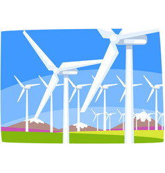 Wind power station ecological energy producing vector