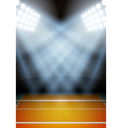 Background for posters night volleyball stadium in vector image vector image