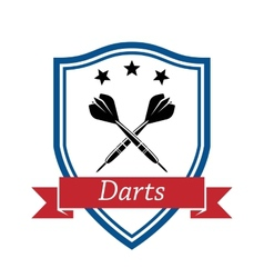 Darts sport icon vector