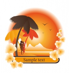 logo tropical island vector image
