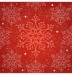 Merry Christmas snowflakes seamless pattern vector image vector image