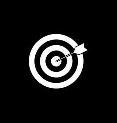 target keyword solid icon vector image