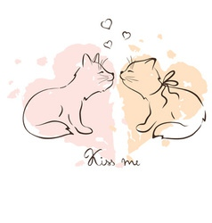 - love cats vector image vector image