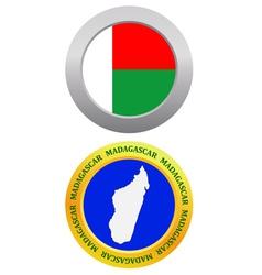 button as a symbol MADAGASCAR vector image