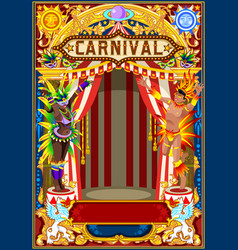 carnival poster for mardi gras vector image vector image