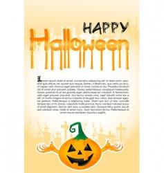 Halloween template with pumpkin vector image vector image