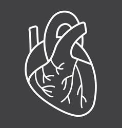 human heart line icon medicine and healthcare vector image