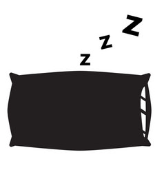 pillow icon on white background pillow sign vector image