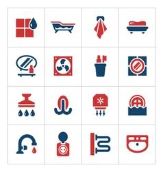 Set color icons of bathroom vector image