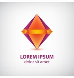 abstract colorful diamond logo vector image vector image