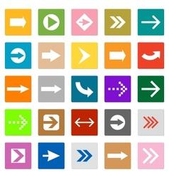 Arrow sign icon set square shape internet button vector image