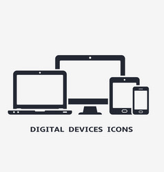 device icons smart phone tablet laptop and vector image vector image