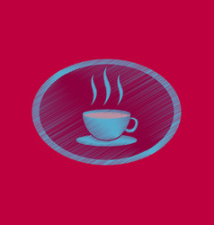 flat shading style icon logo coffee cup vector image vector image