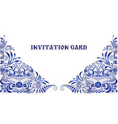invitation card in style of national painting on vector image
