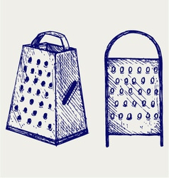 New metal grater vector image vector image