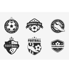 Set of vintage color football soccer championship vector image vector image